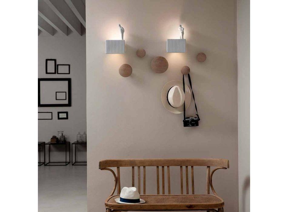 Arandela de Parede com 3 Luzes Led em Cerâmica Matt White com Umarell - Ometto