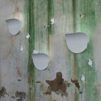Arandela de Parede Design Folha em Cerâmica Branca e Caracol - Decoração Caracol
