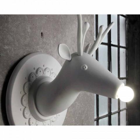 Apliques de Parede em Cerâmica Branca Matt Design Moderno em Cervo - Memento