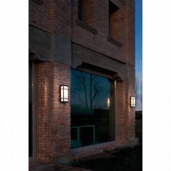 Arandela de parede vintage com 2 luzes em latão e acrílico - Quadro por Il Fanale