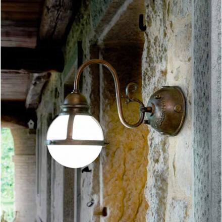 Arandela de bronze e vidro de parede de design Cimosa