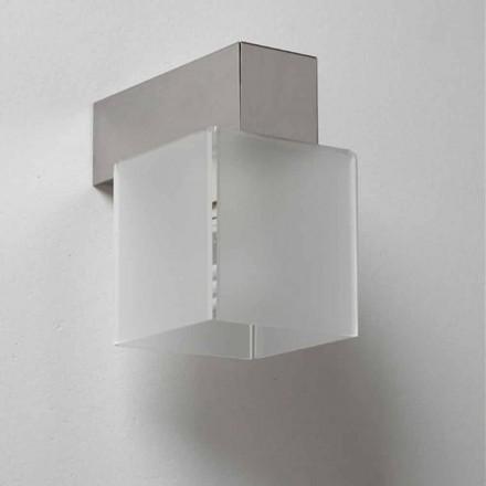 Design moderno arandela Matis com sombra moderna, 11x11 cm