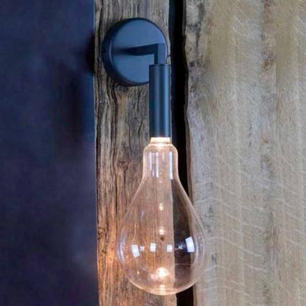 Candeeiro de parede exterior em ferro e alumínio com LED incluído Made in Italy - Luccico