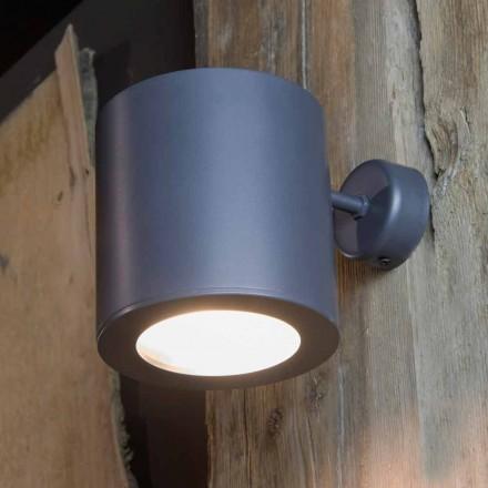 Candeeiro de parede exterior em ferro e alumínio com LED incluído Made in Italy - Rango