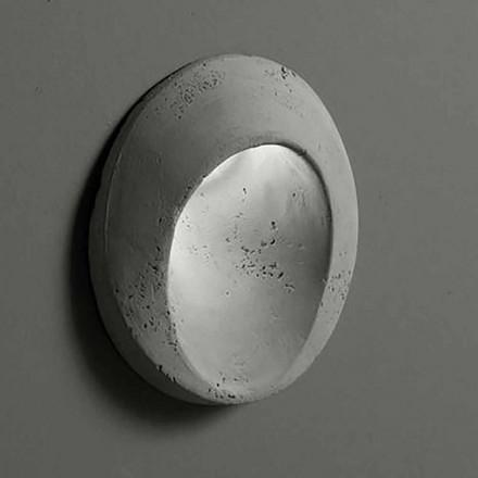 Luminária de parede oval ao ar livre em argila colorida Oval - Toscot