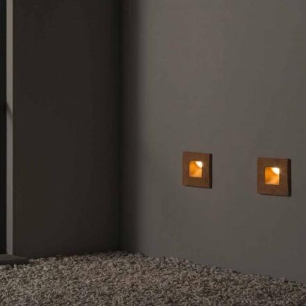 Luminária de parede quadrada para exterior em barro colorido Square - Toscot