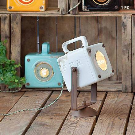 Luz de parede estilo vintage industrial em cerâmica e ferro Julia
