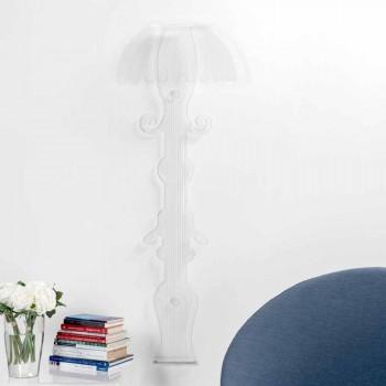 Arandela de design em plexiglass transparente produzido na Itália, Scilla