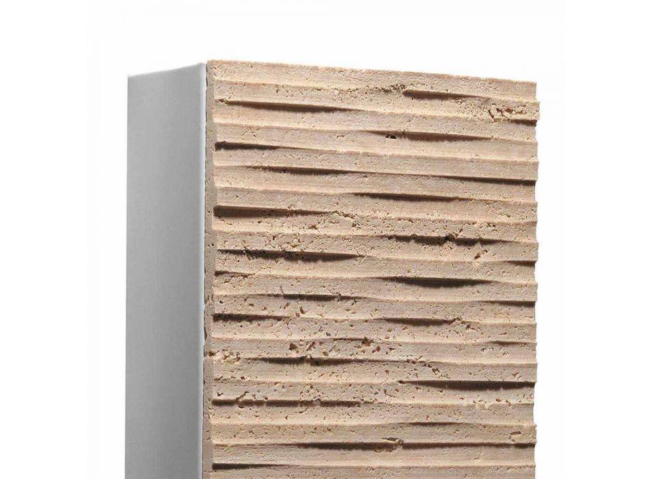 Arandela externa em pedra Serafini Marmi Petra Out, fabricada na Itália