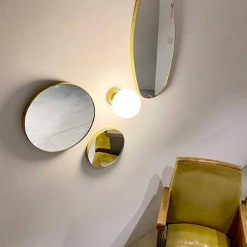 Apliques artesanais em vidro branco de latão e leite Made in Italy - Grinta