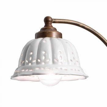 Design de arte nouveau Applique cerâmica Anita Il Fanale