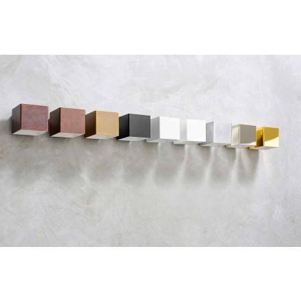 Aplique LED em latão e gesso fabricado na Itália - Cubetto Aldo Bernardi