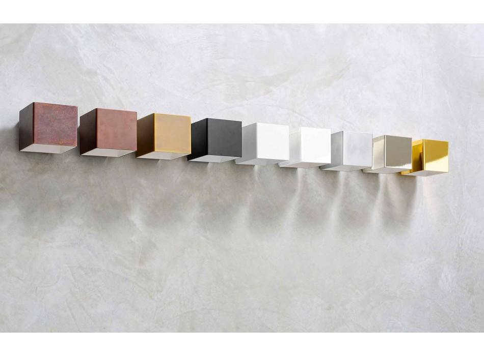 Aplique em latão e gesso fabricado na Itália - Cubetto Aldo Bernardi