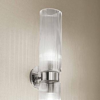 Aplique de vidro veneziano com acabamento em cristal, feito à mão na Itália - Larissa