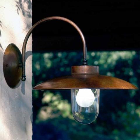 Applique La Traviata cobre, vidro e bronze antigo