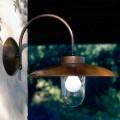 Arandela de design La Traviata feita de cobre, vidro e latão