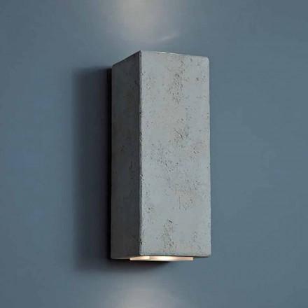 Luminária de parede LED de design exterior em argila alta 24cm Smith - Toscot