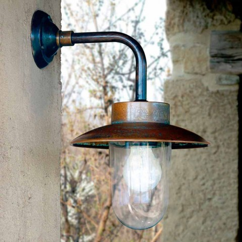 Nabucco applique, lâmpada de parede, cobre, vidro, latão