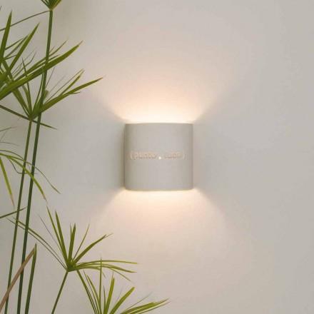 Luminária de parede de néom moderno de dois tons In-es.artdesign Punto Luce design