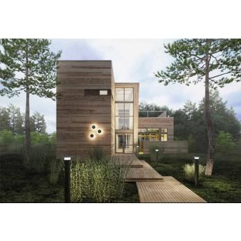 Aplique para exterior moderno em cobre fabricado em Itália - Pasdedeux Aldo Bernardi
