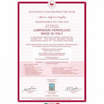 Aplique rústico de cerâmica branca decorada Ferroluce Treviso