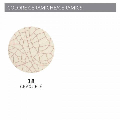 Applique estilo industrial metal e cerâmica Ferroluce