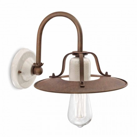 Arandela de design industrial em cerâmica e metal by Ferroluce