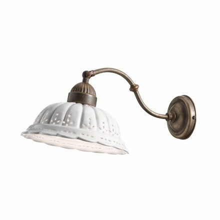 Arandela de cerâmica branca estilo vintage Anita Il Fanale
