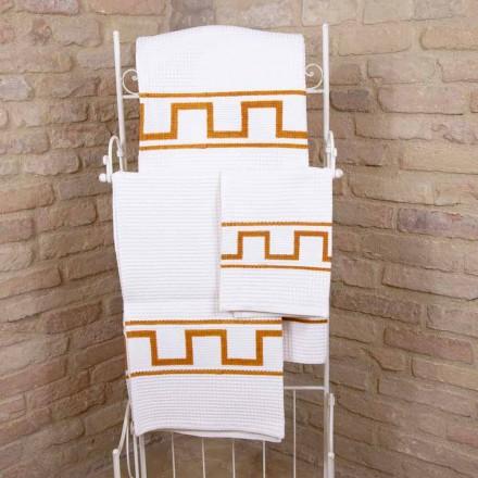 Toalha de arte impressa à mão em peça única de algodão italiano - Viadurini por Marchi