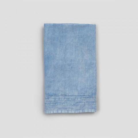 Toalha de linho pesado azul claro design italiano de luxo - Jojoba