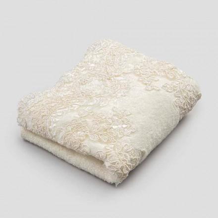 2 toalhas de algodão turvo toalhas de banho e linho de renda mesclado borda - Ginova