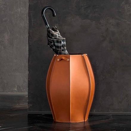 Suporte de guarda-chuva Audrey com design moderno em couro, fabricado na Itália