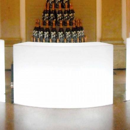 Balcão de bar de jardim modular brilhante Slide Snack Bar, fabricado na Itália