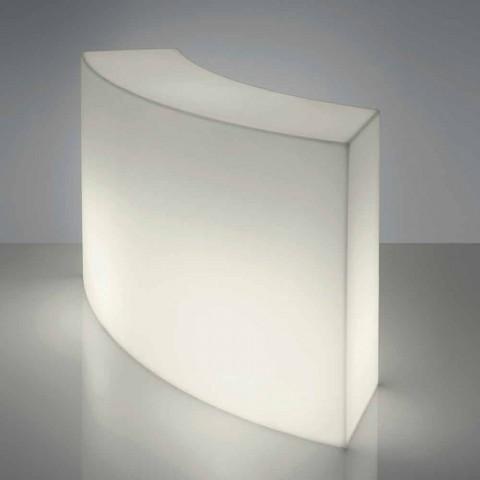 Balcão de barra modular Slide Snack Barra branca brilhante feita na Itália
