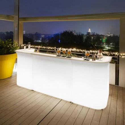 Contador de barra de jardim moderno design brilhante linha de quebra de slide feita na Itália