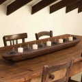 Barco de Cera com Luzes Marrom ou Marfim Incluindo Fabricado na Itália - Ludvig