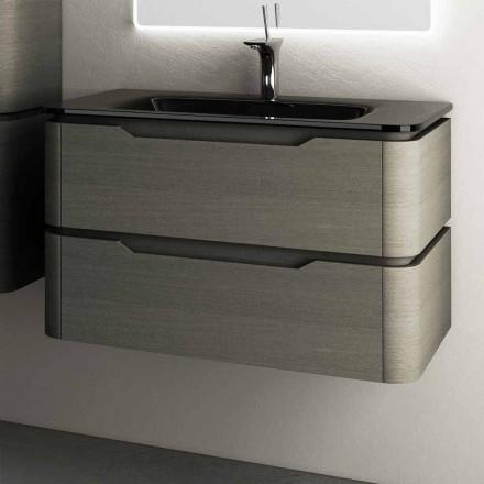 Arya design moderno parede pendurada banheiro vaidade 85x55x55cm, feito de madeira