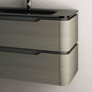Design moderno suspenso base da pia 85x55x55cm Arya madeira lacada