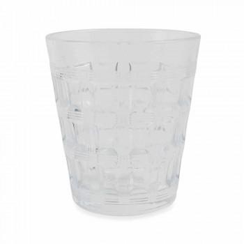 6 Serviço colorido Copos de água de vidro colorido - Entrelaçamento