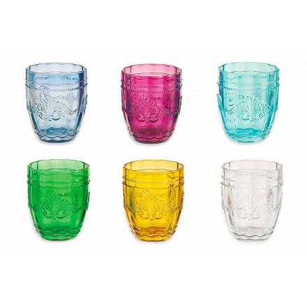 Copos Coloridos e Elegantes em Serviço de Vidro de 6 Peças para Água - Parafuso