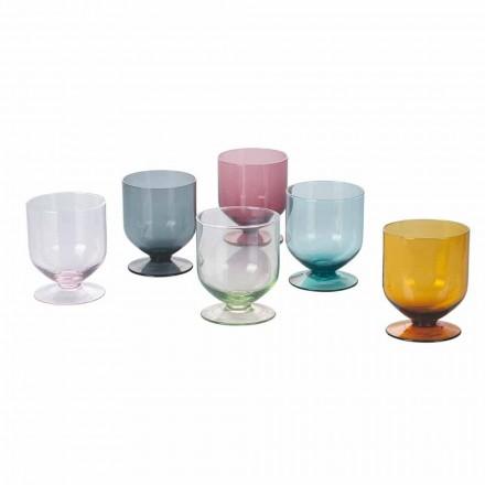 Vidros coloridos em vidro de design original, serviço de 12 peças - massa