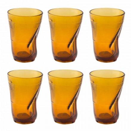 Copos de coquetel de vidro colorido 12 peças de design amassado - Sarabi