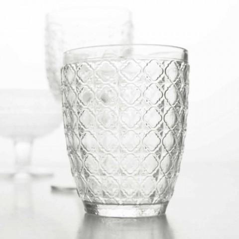 6 Peças Servindo Copos em Vidro Transparente para Água - Óptico