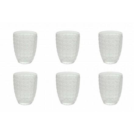 12 Peças Servindo Copos em Vidro Transparente para Água - Óptico