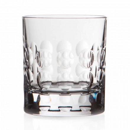 Copos de uísque de cristal duplo antiquado 12 peças - Titanioball