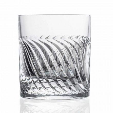 Copos de uísque Eco Crystal DOF Design de luxo 12 peças - arritmia