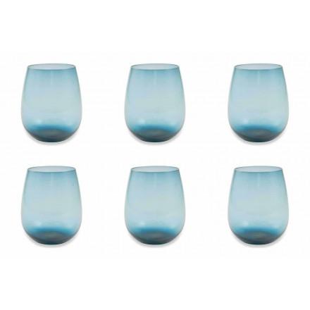 Serviço de copos de água de vidro moderno e colorido de 6 peças - Aperi
