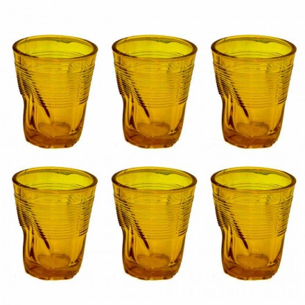 Copos de água de vidro colorido moderno 12 peças de design - Sarabi