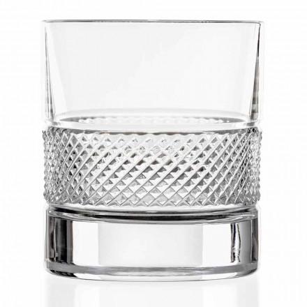 Copos Low Tumbler em Eco Crystal com Decoração de Luxo 12 Peças - Milito