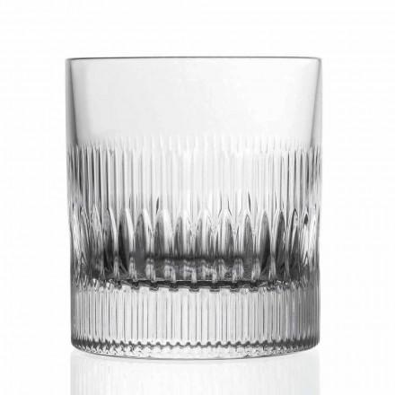 Whisky de cristal e copos de água 12 peças de decoração em estilo vintage - tátil